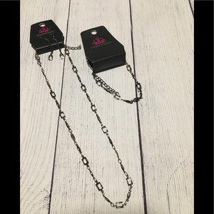 Paparazzi Gunmetal Necklace Earring and Bracelet